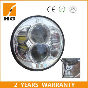 Motorcycle 5 3/4 Round LED Headlight for 5.75inch Harley Headlamp DOT E-MARK Approved