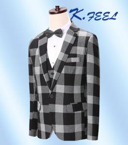 2016 Fashion New Black \u0026 White Check Three PCS Men Suits