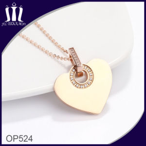 New Design Neck Rhinstone Gold Heart Pendant pictures & photos