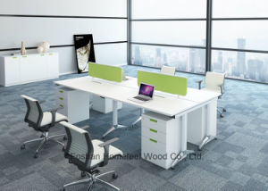 Modern Office Furniture 4 Person Straight Office Workstation (HF-BSP003) pictures & photos