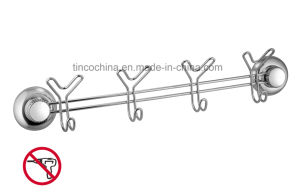 Suction Cup Stainless Steel Coat Rack/Hook Rack