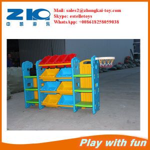 High Quality Children Plastic Cabinet Toys Shelf on Sell pictures & photos