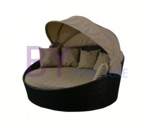 Hot Sale Factory Supply Outdoor Rattan Garden Round Sofa Bed