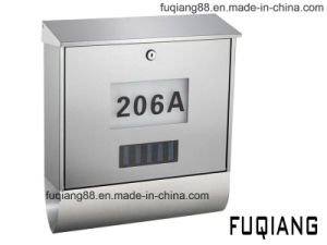 Stainless Steel Solar Mailbox with House Number pictures & photos