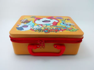 New Arrival High Fashion Decorated Lunch Tin Box with Zip pictures & photos