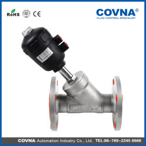 Flange Type Ss304 Pneumatic Angle Seat Valve for Water Treatment