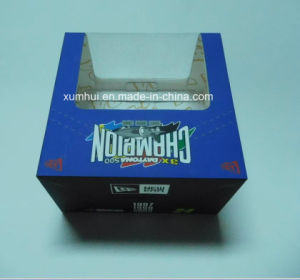 Paper Soft Touch Hat Packaging Box with PVC Window