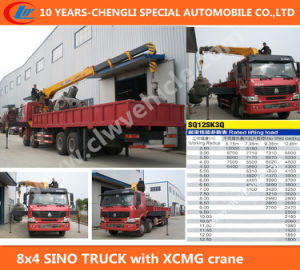 Heavy Duty 8X4 Sino Truck with XCMG Crane pictures & photos