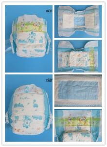 Economic Disposable Baby Diaper with Magic Tapes