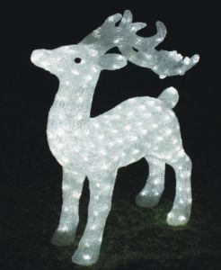 Outdoor Christmas Holiday Decoration LED Solar Deer Motif Acrylic Light pictures & photos