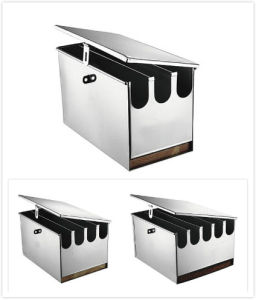 3/4/5 Divisions Stainless Steel Kitchen Knife Box with Cover & Lock pictures & photos