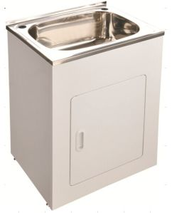 Commercial Used Stainless Steel Laundry Sink Tub With Cabinet