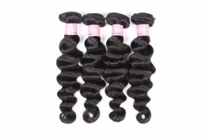8A Loose Wave Natural Brazilian Black Hair Weaving pictures & photos