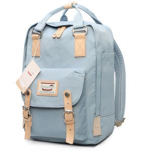 delikatne kolory całkiem fajne klasyczny styl Doughnut Macaroon Canvas Backpack Computer Laptop Backpack School Bag