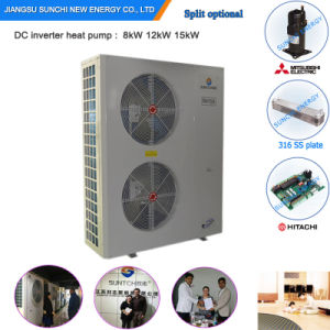 Winter -25c Floor Heating + 55c Hot Water Shower Auto-Defrost 12kw/19kw/35kw/70kw Evi Air Source Heat Pump for House Heating pictures & photos