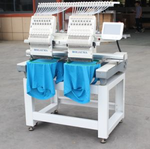 Cheap Price Tajima Type 2 Head Embroidery Machine for Cap Flat T-Shirt Shoes Embroidery China Industrial Sewing Machine Brother Software Sale Two Head Double pictures & photos