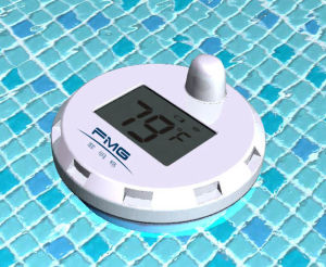 Wireless Floating Pool Thermometer with 8-Channels Remote Water Sensors for  Swimming Pool, SPA, Bath House, Bathroom