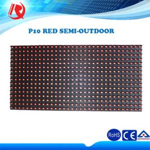 High Quality P10 Red Semi-Outdoor LED Display Screen pictures & photos
