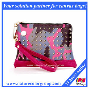 Rivet PU Ladies Clutch Bag (WP-008) pictures & photos