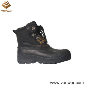 Canadian Waterproof Leather Military Snow Women Boots (WSB009) pictures & photos