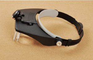Mg81001-B Head Magnifier with LED Lamp pictures & photos