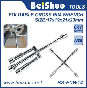 Foldable Cross Rim Socket Wrench for Hand Tools