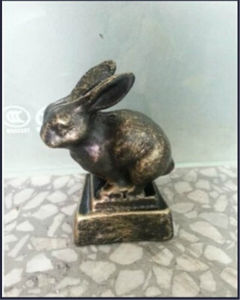 Hot Selling Polyresin Craft Rabbit Figuries Home Decoration (JN06) pictures & photos