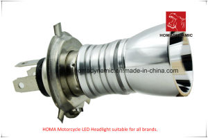 Motorcycle Light of LED Headlight A08-01 Two Side LEDs H4 Base pictures & photos