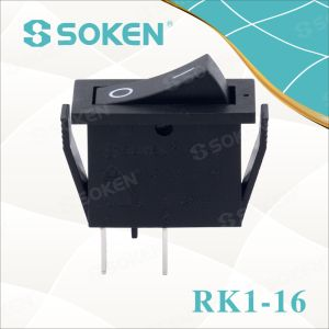 Soken Rk1-16 1X1 B/R on off Rocker Switch pictures & photos