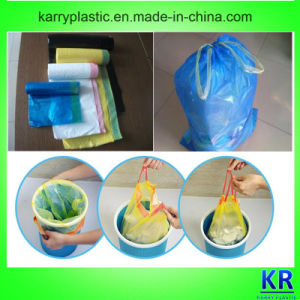 Tie Handle Heavy Duty Plastic Trash Bag with Drawtape pictures & photos