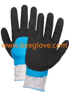 Nitrile Coating, Sandy Finish, Cut Resistant Glove pictures & photos