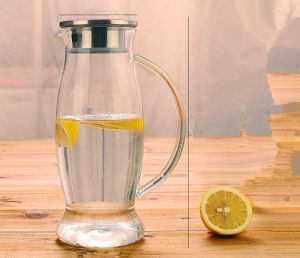 Fashion Creative Design Cold Drinking Cup Teapot Juice Jug Glass Pitcher pictures & photos
