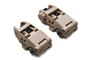 Pts Mbus Front & Rear Back-up Sight Set Black Color Polymer pictures & photos
