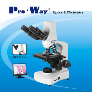 Professional Video Digital Biological Microscope (DN-PW117M) pictures & photos