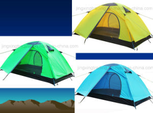 Popular Practical Polyester Aluminium Pole Camping Tent for 2 Persons (JX-CT016) pictures & photos
