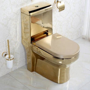 toilet made of gold. High Quality Sanitary Ware Bathroom One Piece Gold Plated Washdown  Sinphonic Flushing Toilet China