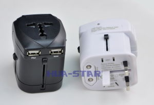 Double USB Travel Adapter for Smartphone iPhone/iPad/Samsung (HS-T102DU) pictures & photos