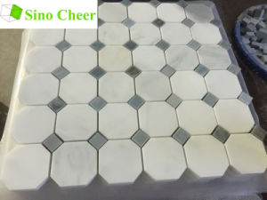 Chinese Oriental White Marble Mosaic with Grey DOT for Wall Tiles pictures & photos