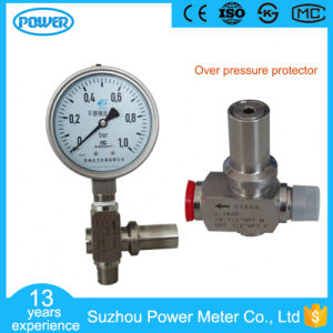 100mm Full Stainless Steel Pressure Gauge with Overpressure Protector pictures & photos
