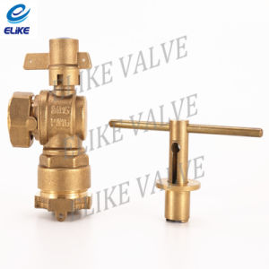 Dn15 Brass Lockable Ball Valve with Copper Handle