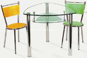 China Triangle Glass Dining Table With Pvc Dining Chairs Vic12 Via6 China Dining Table And Chair Table And Chair