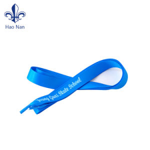 Various Color Eco-Friendly Custom Fabric Silk Screen Logo Shoelace pictures & photos