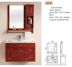 Foshan Wholesale Price Apartment Wall Mounted Bathroom Vanity With Mirror Cabinet