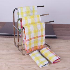 China Wholesale Cotton Colorful Waffle Weave Kitchen Dish Towel