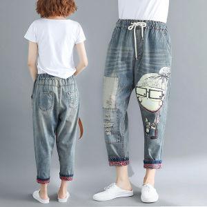 789099fc279 ... Jeans for Women Baggy Pants Women Baggy Jeans Boyfriend Jeans for Women  Ripped Jeans Women Harem Hip Hop Denim Pants Loose Baggy Jeans Casual  Trousers