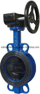 Lt Type Ductile Iron Butterfly Valve pictures & photos