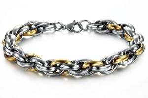 China Punk Chain Link Bracelets Gold