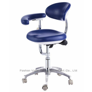 Dental Chair PU Leather Dentist Stool with Armrest pictures & photos