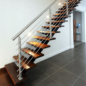 Prefabricated Wrought Iron Used Metal Straight Stairs For Indoor