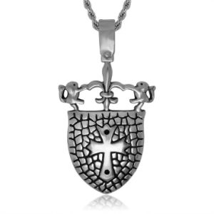 Shield Necklace Pendant Men Fashion Accessories 316L Stainless Steel